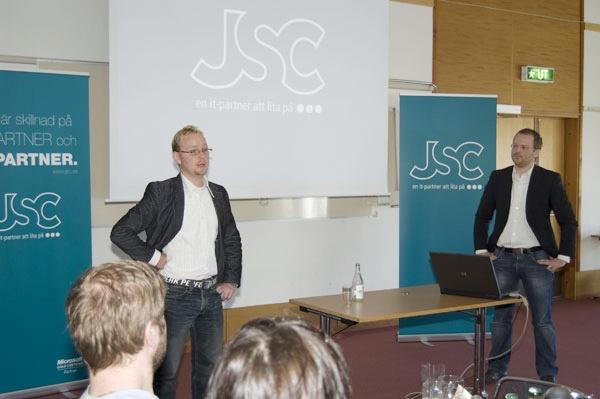 Johan Schelin och Petter Jacobs anno 2010